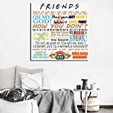 Friends TV Show Quotes Plaque Birthday Gift Present Minimalist Art Canvas Poster Painting Wall Picture Print Home Bedroom Decor - (Size (Inch): 20x20 inch, Color: No Frame)