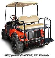 Madjax 01-007 Genesis 150 Rear Flip Seat kit for 1994-Up EZGO TXT Golf Carts Tan Cushions