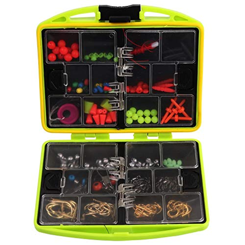 Elikliv 202Pcs Fishing Accessories Set Tackle Box ABS 24 Compartments Fishing Tool Set Tackle Box Full Loaded Lure Bait…