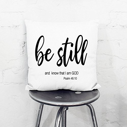 onepicebest Christian Pillow Cover, Be Still and Know Christian Pillow Cover, Religious Pillow Cover With Saying, Word Pillow Cover, Christian Gift by onepicebest