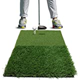 Rukket Twin-Turf Golf Hitting Grass Mat | Realistic Fairway and Rough | Portable Driving, Chipping, Training Aids, Equipment For Residential Backyard and Indoor Practice With Adjustable Rubber Tee