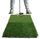 Rukket Twin-Turf Golf Hitting Grass Mat | Realistic Fairway and Rough | Portable Driving - Chipping - Training Aids - Equipment For Residential Backyard and Indoor Practice With Adjustable Rubber Tee