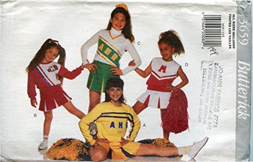 Butterick Patterns Costumes (Butterick Pattern 3659 ~ Girls' Cheerleading Costume ~ Sizes S-XL (4-14))