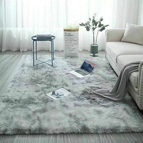 Catalpa-Blume-Teppich-in-Silbergrau-Hochflor-Shaggy-Teppiche-Langflor-Wohnzimmer-Pflegeleicht-160x230cm