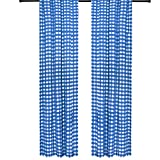 lovemyfabric Gingham/Checkered 100% Polyester Curtain Window Treatment/Decor Panel-Royal Blue and White (2, 56″X120″) Review