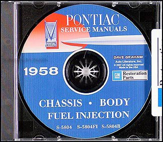 1958 Pontiac CD Repair Shop Manual with Body, A/C, & Fuel Injection Manuals ()