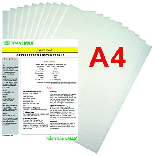 15x15'' Flat Heat Press A4 Epson Printer Paper Ink CISS Start-up KIT T-shirts by TRANSGERWORLD (Image #6)