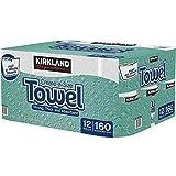 Kirkland Signature kujj Premium Big Roll Paper Towels 12-roll, 160 Sheets Per Roll- 4 Pack