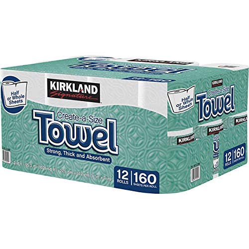 Kirkland Signature kujj Premium Big Roll Paper Towels 12-roll, 160 Sheets Per Roll- 4 Pack