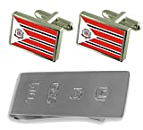 Adamantina City Sao Paulo State Flag Cufflinks & James Bond Money Clip