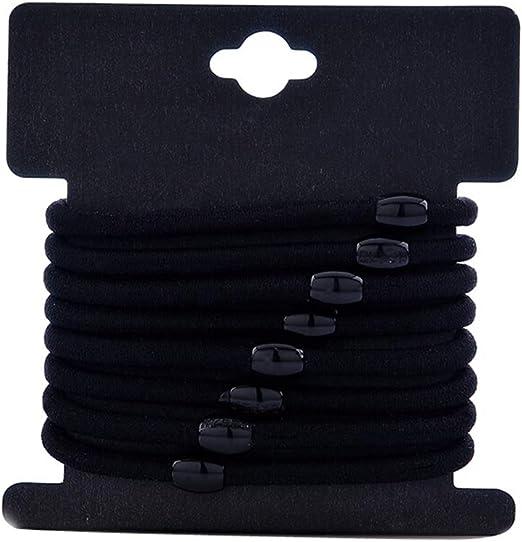 Hyvaluable 20 Piezas de Pelo de algodón Grande, elástico Negro ...