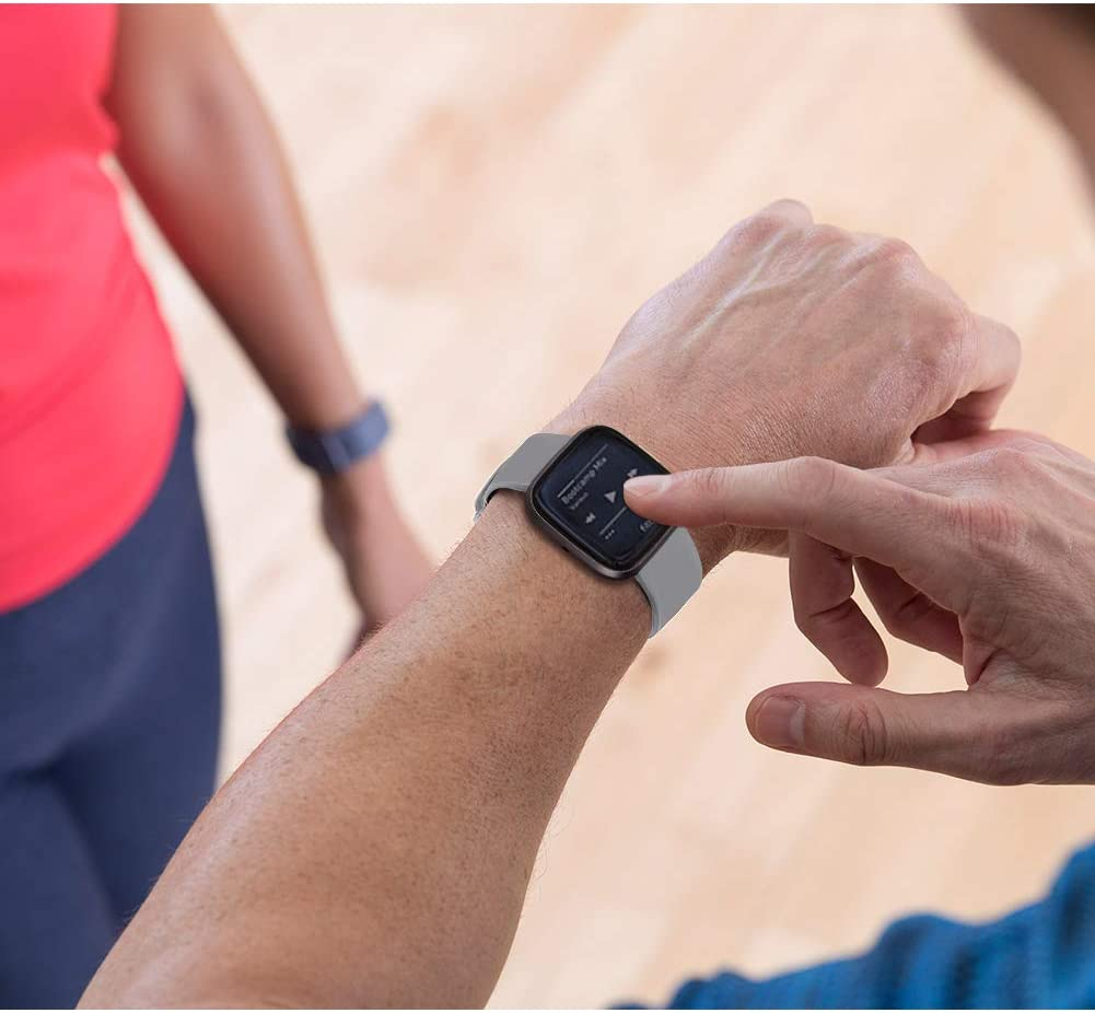 IFREE Correa Compatible para Fitbit Versa Pulsera//Versa 2 Correa//Versa Lite Correas//Blaze Pulseras,Silicona Banda de Relojes para Hombres Mujeres Sin Reloj Deportivo Recambio de Pulsera