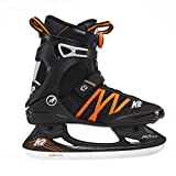 K2 Skate F.I.T. Ice BOA Skates, Black/Orange, Size 7.5