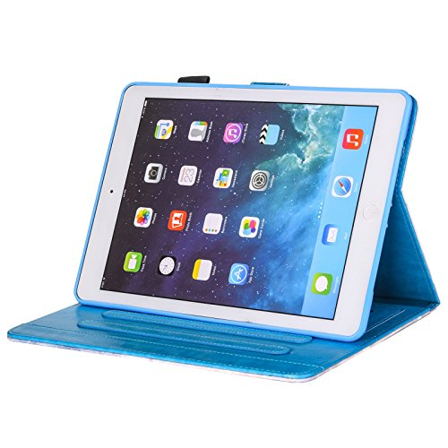 inShang iPad iPad air / iPad 5 Fundas soporte y carcasa para iPad iPad air ((2013 Release) , smart cover PU Funda + clase alta 2 in 1 inShang marca negocio Stylus pluma Colorful diamond