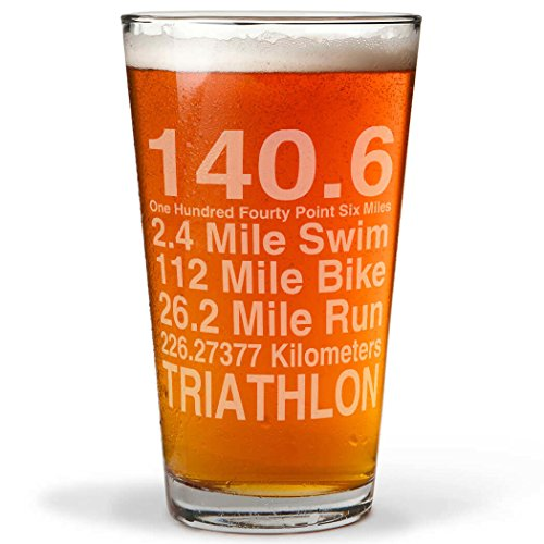 140.6 Math Miles Engraved Beer Pint Glass By ChalkTalk SPORTS | 16 oz.