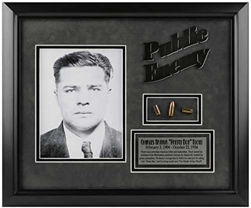 (Charles Floyd Public Enemy Framed Photograph with Bullet & Plate)