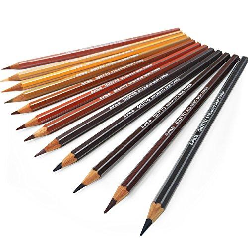 Giotto Stilnovo Skin Tone Colouring Pencils – Pack of 12 Assorted -