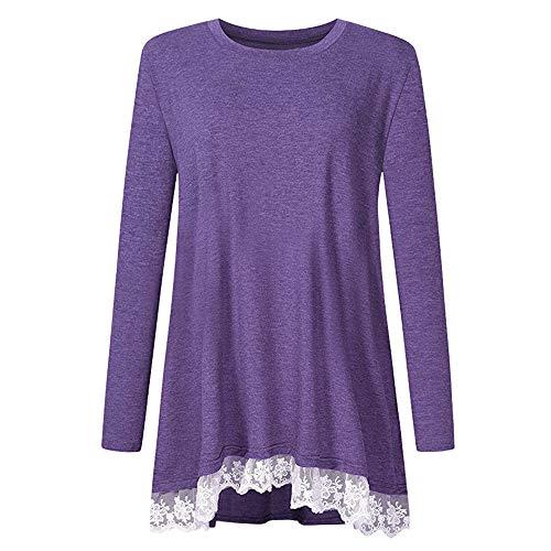 Blouson Manches Femme Chemisier Violet Uni Longues Holywin Fqx5A4nq