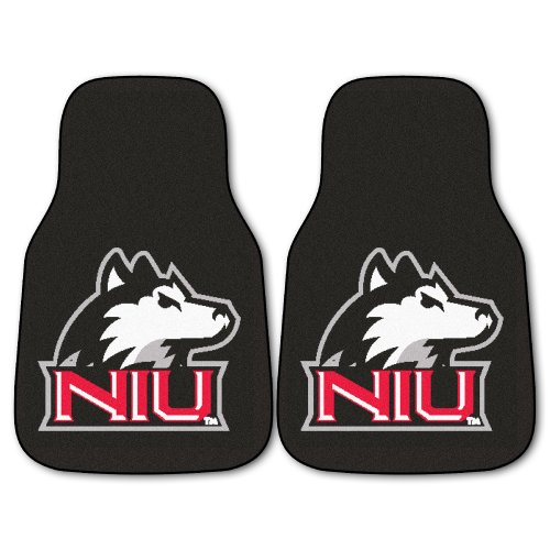 Car University Mats Illinois (Fanmats NCAA Northern Illinois University Huskies Nylon Face Carpet Car Mat)