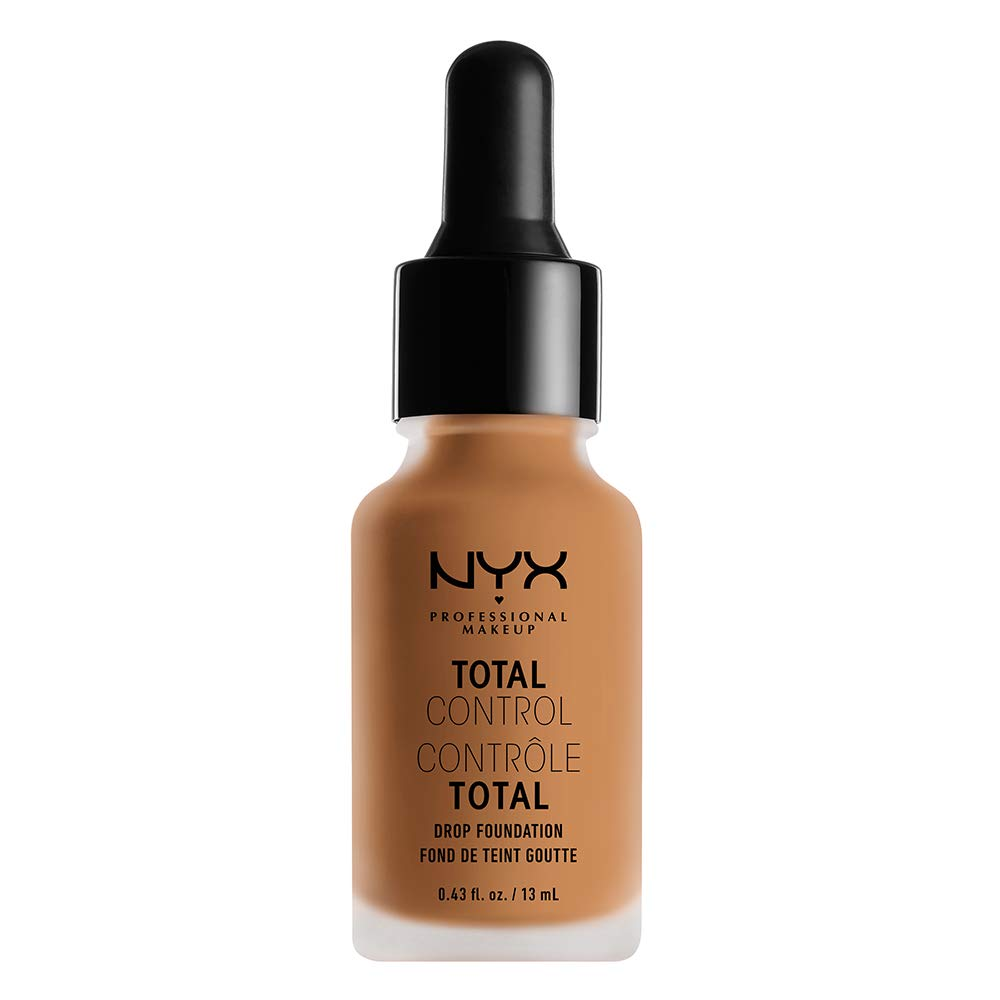 NYX PROFESSIONAL MAKEUP Total Control Drop Foundation, Camel, 0.43 Fluid Ounce