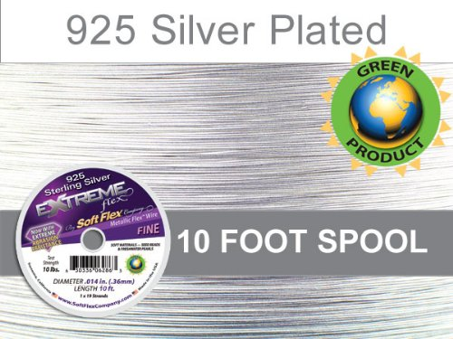 (Soft Flex Extreme Flex Wire 19-Strand, .014 x 10', Silver)