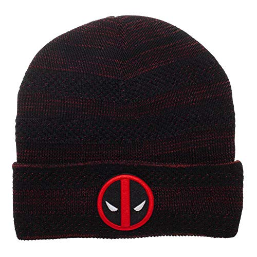 Deadpool Beanie Marvel Hat Deadpool Knit Hat Marvel Beanie Deadpool Hat]()