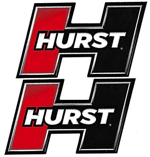 Racing Vinyl Stickers - Hurst Racing Decals Stickers 3-3/4 Inches Long Size Set of 2 Vinyl
