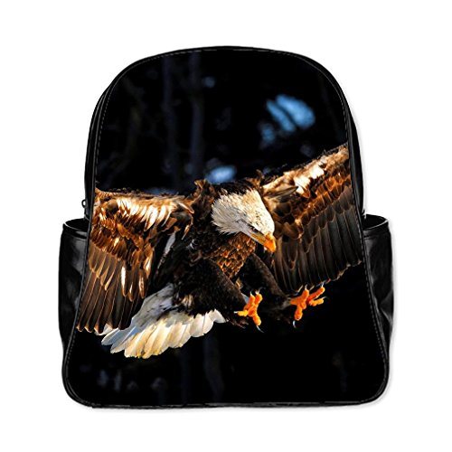 Custom Eagle Multi-pocket PU Travel Backpack -Large - New York Yankees Leather Picture