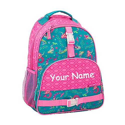 Personalized Book Bags For Girls - Stephen Joseph Personalized Mermaid All Over