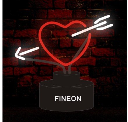 (Prang-US Broken Heart Neon Sculpture 10×8 inch, Real Neon Signs Made with Glass Tubes, Brilliant Neon Lamps. Eye-catching Neon Beer Sign.)