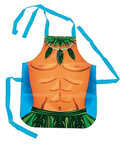[Adult Size Hawaiian Luau Vinyl Male Hula Apron Fun Costume] (Hawaiian Costumes For Adults)