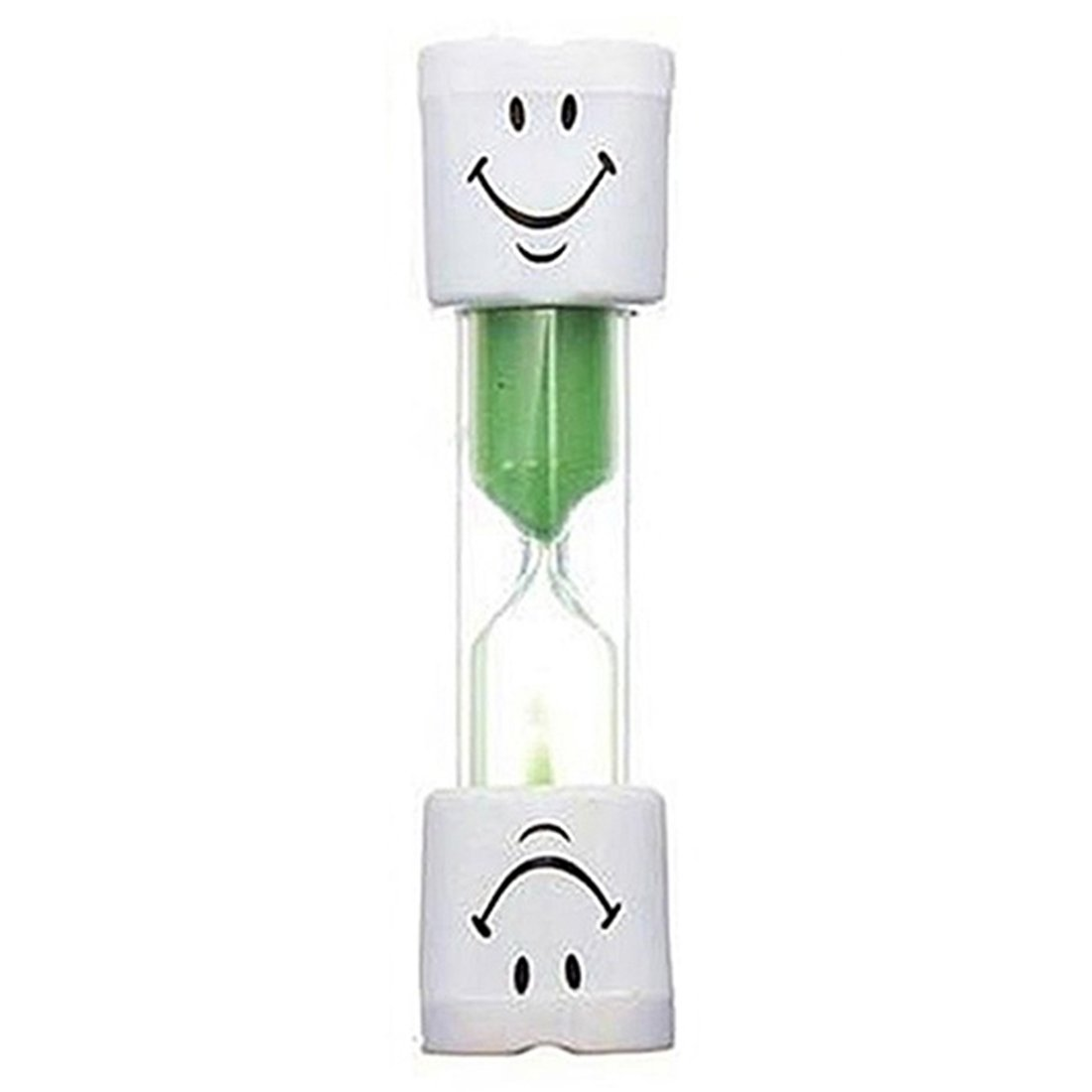 Colorful Children Kids Toothbrush Timer 2-Minute Smile Sandglass Tooth Brushing-Green