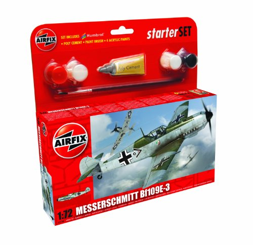 Airfix 1:72 Messerschmitt Bf109E-3 Starter Set - 1 Set Starter