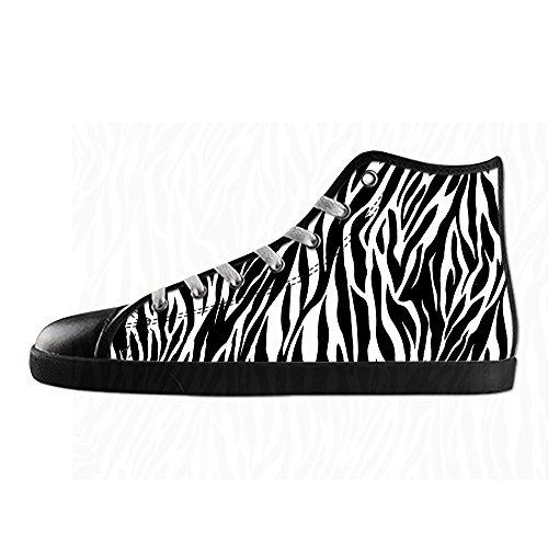 Custom zebra di stampa Mens Canvas shoes I lacci delle scarpe in Alto sopra le scarpe da ginnastica di scarpe scarpe di Tela.