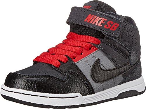Nike Kids' Mogan Mid 2 JR B Skate Shoes Anthracite/Black/Red US 6.5Y