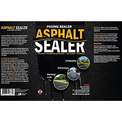High Solids Premium Asphalt Sealer 5 Gallon Pail | Sealer for Driveways Blacktop & Asphalt | Commercial Grade, Easy Application by FDC Chem (Image #1)