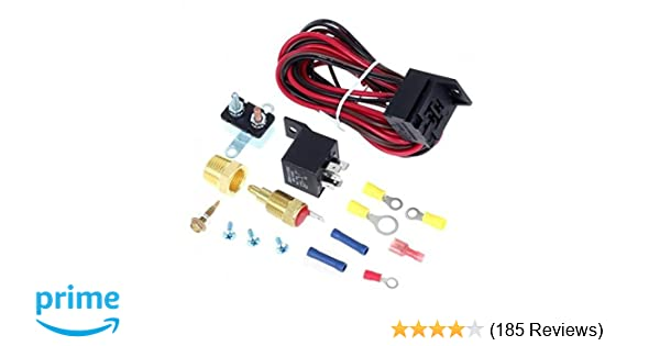 Partssquare 175-185 Degree Electric Cooling Fan Thermostat Kit Temp on