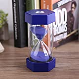 hourglass timer 60 minutes - Colorful Sand Timers Hourglass for Home Office Decor Gift Sand Glass Hourglass 3/10/20/30/60 Minutes Timer Clock (60 mins, Blue)