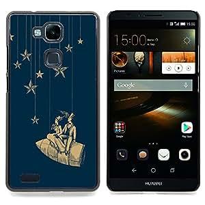 - Stars Space Dream Rocket Theatre/ Duro Snap en el tel????fono celular de la cubierta - Cao - For HUAWEI Ascend Mate 7