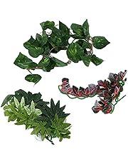 Imitacja terrarium z terrarium stworzona w celu repliki naturalnego środowiska dla zwierząt domowych imitującego rośliny z wysokiej jakości tworzywa sztucznego do akwarium