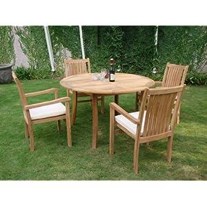 51FuwiphLmL._SS300_ Teak Dining Tables & Teak Dining Sets