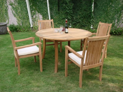 Grade-A Teak Wood Luxurious Dining Set Collections: 5pc - 52