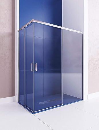 Modelo ASTRO - Mampara de ducha angular de 2 hojas fijas y 2 puertas correderas- Cristal 6 mm con ANTICAL INCLIDO.: Amazon.es: Bricolaje y herramientas
