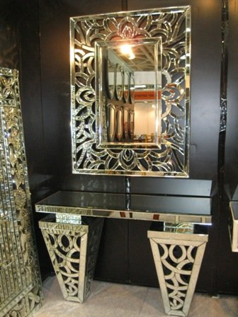 Venetian Designv Console Table With Mirror Amazon In Home Kitchen