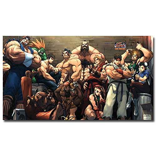 Stylish Custom Street Fighter V Art Canvas Poster Print 2X36 Ken Chun Li Ryu Game Pictures For Living Room Decor Sf