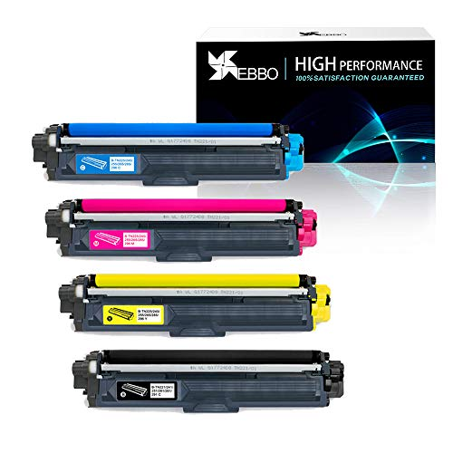 EBBO TN221 TN225 Compatible Toner Cartridge Replacement for Brother TN-221 TN-225, Work with Brother HL-3170CDW HL-3140CW HL-3180CDW MFC-9130CW MFC-9330CDW MFC-9340CDW Printer (1 Set, 4-Pack) from EBBO