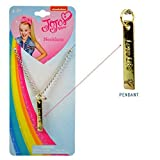 Embossed Vertical Gold Bar Girls Necklace ''Love Life'' by JoJo Siwa