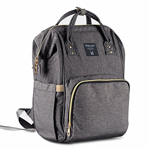 Cheap Diaper Backpack Bag, WeTong Multi-Function Waterproof Maternity Nappy Bags for Travel, Baby, Larger Capacity with 3 Insulated Bags(Grey)