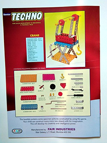 SENIOR TECHNO ,Construction Toys Mechanical Kit For Kids - (Age 6+) with guide book by JAGGERMART (Image #5)
