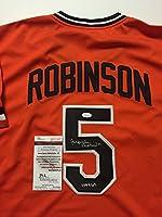 "Autographed/Signed Brooks Robinson ""HOF 83"" Baltimore Orioles Orange Baseball Jersey JSA COA"